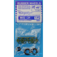 Rubber wheels 1/48 for MiG-21