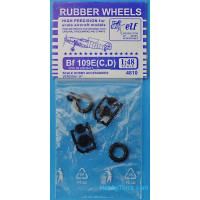 Rubber wheels 1/48 for Bf 109 E (C, D), version A