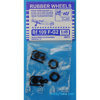 Rubber wheels 1/48 for Bf 109 F-G2, version A