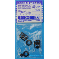 Rubber wheels 1/48 for Bf 109 G, version B