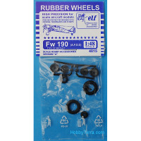 Rubber wheels for Fw 190 A,F,G,D, version A