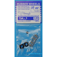 Rubber wheels 1/48 for Yak-1