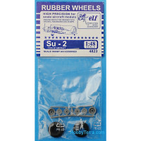 Rubber wheels 1/48 for Su-2