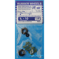 Rubber wheels 1/48 for IL-10