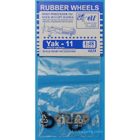 Rubber wheels for Yak-11