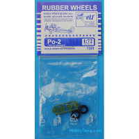 Rubber wheels 1/72 for Po-2