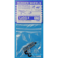 Rubber wheels 1/72 for LaGG-3
