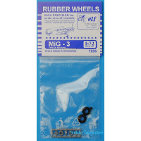 Rubber wheels 1/72 for MiG-3