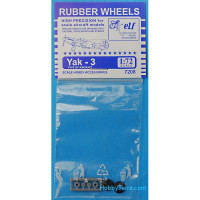 Rubber wheels 1/72 for Yak-3