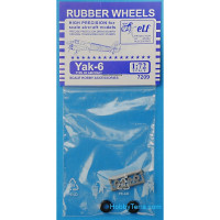 Rubber wheels 1/72 for Yak-6