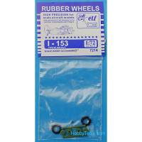 Rubber wheels 1/72 for I-153