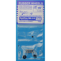 Rubber wheels 1/72 for Spitfire Mk I-V