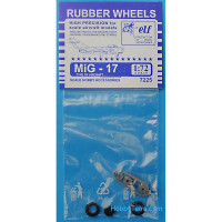 Rubber wheels 1/72 for MiG-17