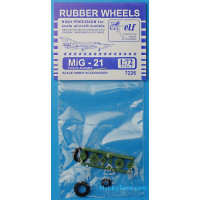 Rubber wheels 1/72 for MiG-21