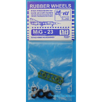 Rubber wheels 1/72 for MiG-23
