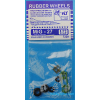 Rubber wheels 1/72 for MiG-27
