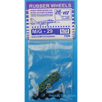 Rubber wheels 1/72 for MiG-29