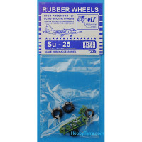 Rubber wheels 1/72 for Su-25
