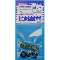 Rubber wheels 1/72 for Su-27