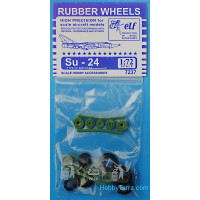 Rubber wheels 1/72 for Su-24