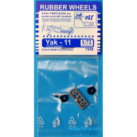 Rubber wheels 1/72 for Yak-11