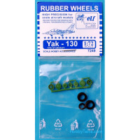Rubber wheels 1/72 for Yak-130