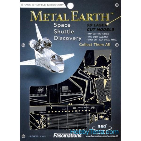 3D metal puzzle. Space Shuttle Discovery