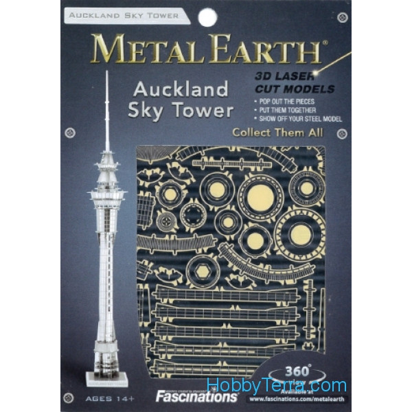 3D metal puzzle. Auckland Sky Tower
