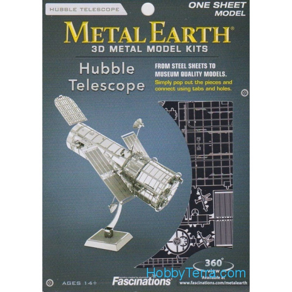 3D metal puzzle. Hubble Telescope