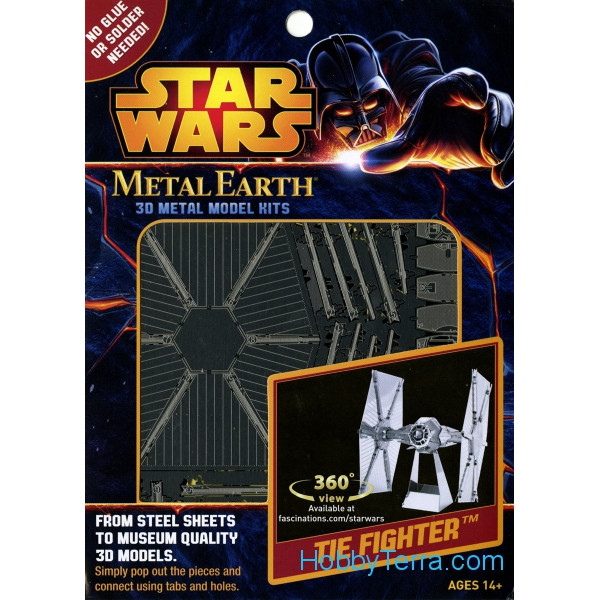 3D metal puzzle. Star Wars. TIE Fighter