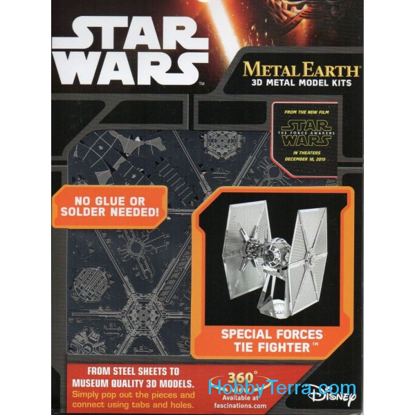3D metal puzzle.  Special Forces TIE Fighter