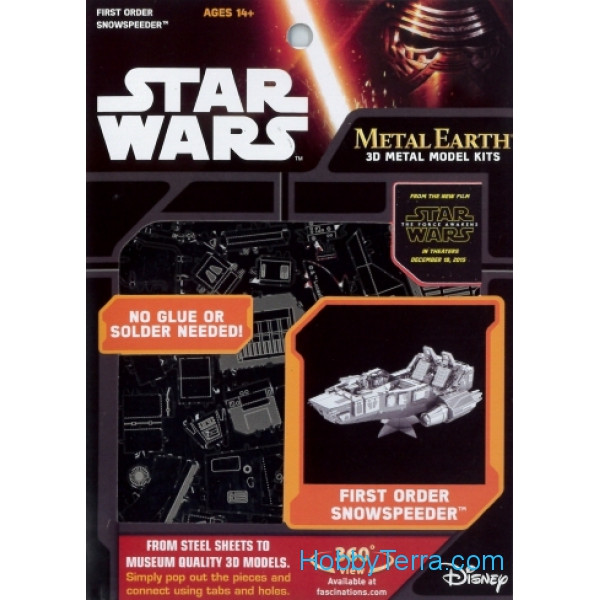 3D metal puzzle. Star Wars. First Order Snowspeeder