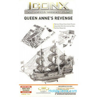 3D metal puzzle. Queen Anne Revengel