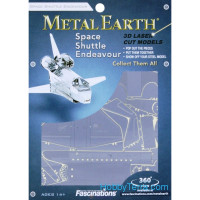 3D metal puzzle. Space Shuttle Endeavor