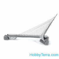 3D metal puzzle. SunDial Bridge