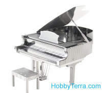 3D metal puzzle. Grand Piano