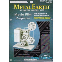 3D metal puzzle. Movie Film Projector