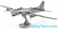 3D metal puzzle. B-17 Flying Fortress