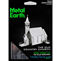 3D metal puzzle. Old church
