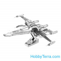 3D metal puzzle. Poe Dameron's X-wing Fighter