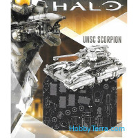 3D metal puzzle. Halo UNSC Scorpion