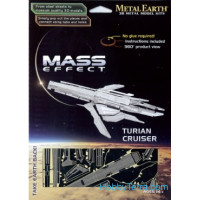 3D metal puzzle. Mass Effect. Turian Cruiser