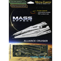 3D metal puzzle. Mass Effect. Alliance Cruiser