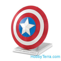 3D metal puzzle. Captain America's Shield