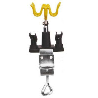 Stand for airbrush with locking clamp