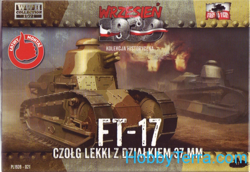 FT-17 tank with 37mm gun