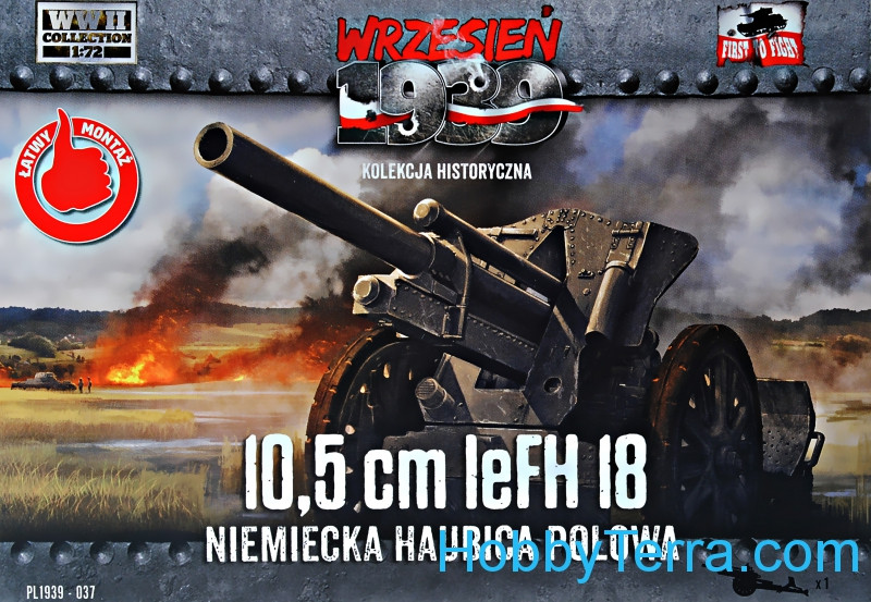First To Fight  037 10,5cm leFH 18 German light howitzer