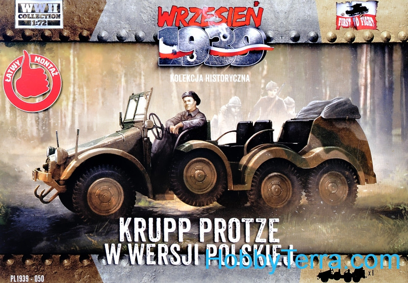 First To Fight  050 Krupp Protze in Polish version (Snap fit)