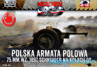 Polish Field Canone 75mm wz. 1897 Schneider on DS Wheels, 2pcs (Snap fit)