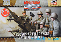Polish motorized artillery crew